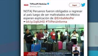 Peruanos denuncian discriminación por parte de agentes migratorios en el AICM