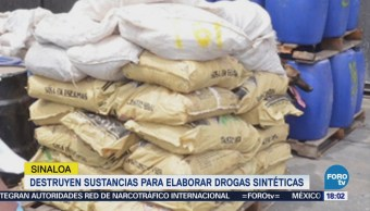 Pgr Destruye Sustancias Químicas Elaborar Drogas Sinaloa