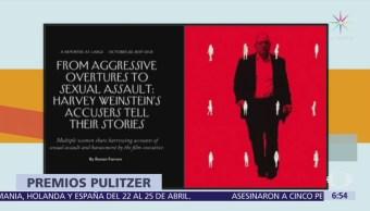 Premios Pulitzer reconocen trabajo que reveló escándalos de Harvey Weinstein