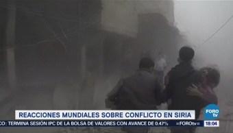 Reacciones mundiales sobre conflicto en Siria