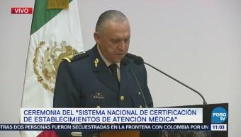 Realizan ceremonia del 'Sistema Nacional de Certificación de Establecimientos de Atención Médica'