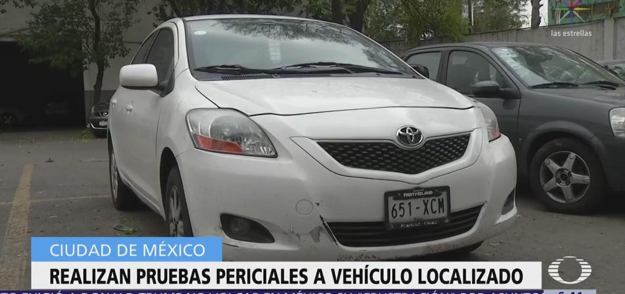 Realizan pruebas periciales al auto robado de académica de la UNAM asesinada