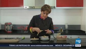 Receta para preparar tiras de tortilla para guarnición
