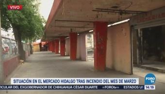 Rehabilitación del mercado Hidalgo avanza lentamente
