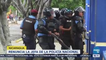 Renuncia Jefa Policía Nacional Nicaragua Amnita Granera
