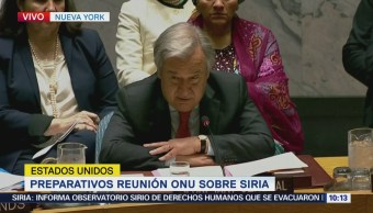 Reunión de emergencia de la ONU después de ataque en Siria