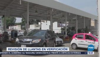 Revisión de llantas podría incluirse en la verificación vehicular en CDMX