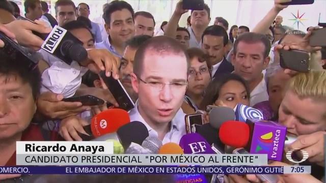 Ricardo Anaya exige a Estados Unidos detener flujo de armas a México