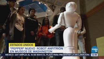 Robot 'Pepper' atraerá visitantes a museos de Washington