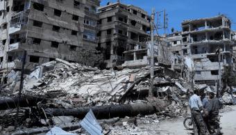 Rusos encuentran supuesto laboratorio rebelde de armas químicas en Duma, Siria