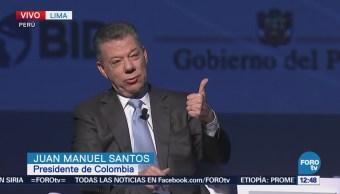 Santos habla de la infraestructura de Colombia Foro Empresarial de las Américas