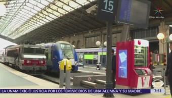 Segundo día de huelgas intermitentes de empleados ferroviarios en Francia