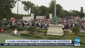 Sheinbaum Gobernará Austeridad Candidata De Morena