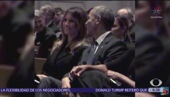 Sonrisas entre Melania Trump y Barack Obama se hacen virales