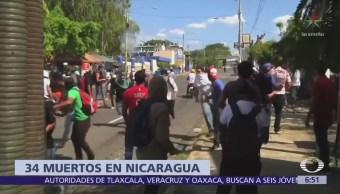 Suman 34 muertos en Nicaragua por protestas contra reforma del seguro social