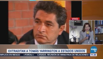 Tomás Yarrington llegará a Houston tras ser extraditado de Italia
