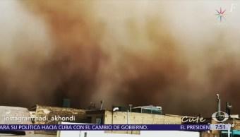 Tormenta de arena afecta el centro de Irán