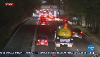 Tránsito complicado en la Glorieta de La Raza y Circuito Interior