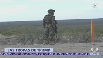 Trump anuncia despliegue de hasta 4 mil elementos de la Guardia Nacional