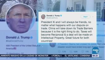 Trump asegura que China siempre será amigo a pesar de diferencias comerciales