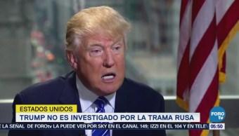 Trump no es investigado por trama rusa