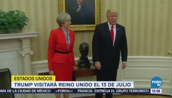 Trump se reunirá con Theresa May en Reino Unido
