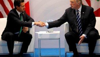 Trump y EPN defienden candidatura norteamericana Mundial 2026