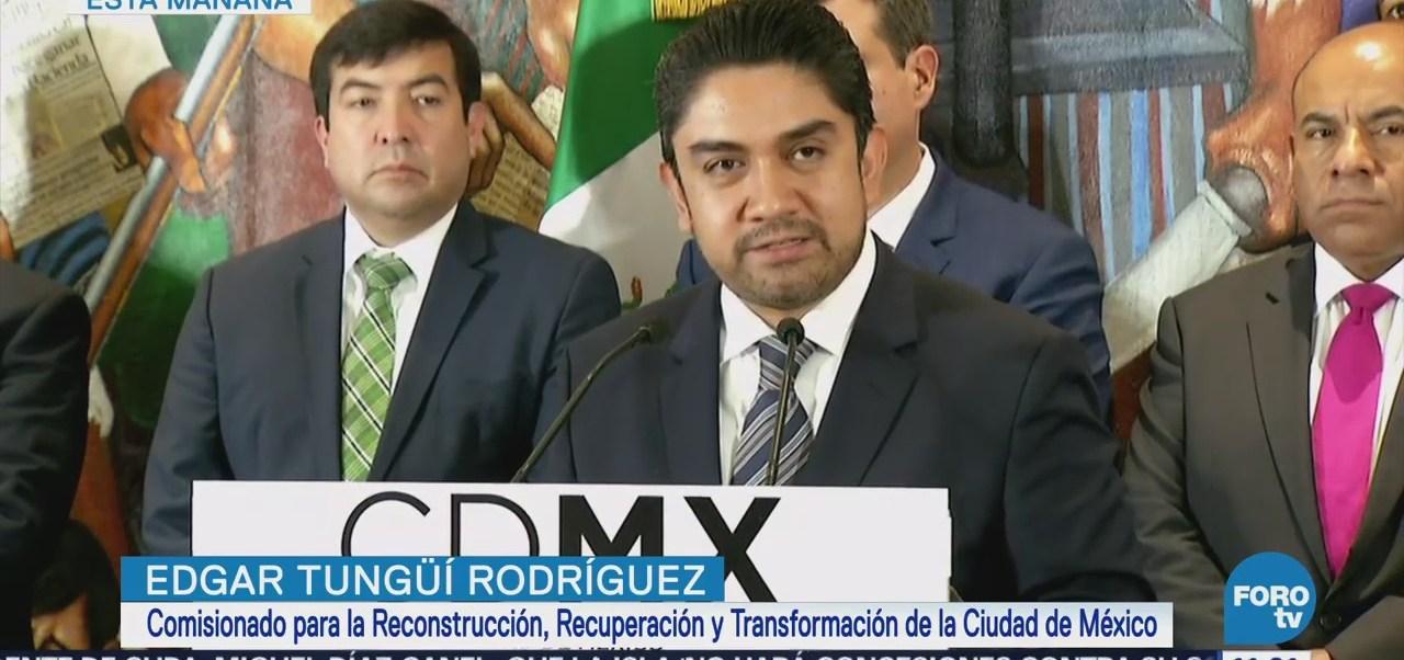 Tungüí Rodríguez presenta avances de reconstrucción de la CDMX