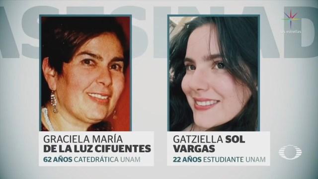 UNAM exige investigación de feminicidio de catedrática y su hija