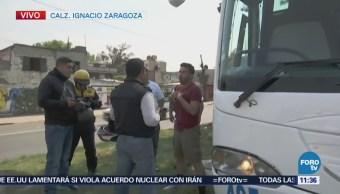 'Viacrusis Migrante' avanza por calzada Zaragoza, CDMX