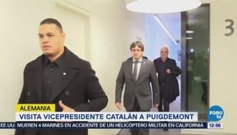 Vicepresidente catalán visita a Puigdemont en cárcel de Alemania