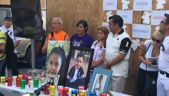 Familiares de víctimas del colegio Rébsamen exigen justicia a siete meses del sismo