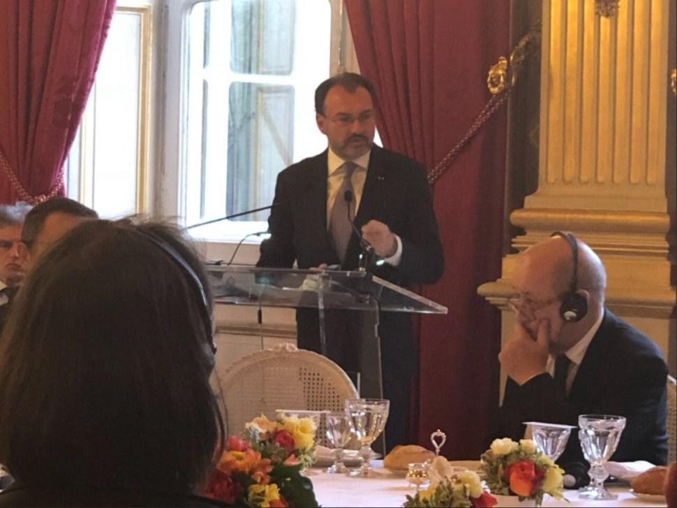 videgaray se reune con el ministro de relaciones exteriores de francia