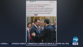 Videgaray se reúne con el presidente Emmanuel Macron