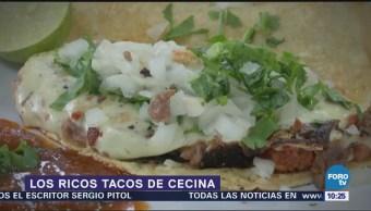 Viernes culinario Ricos tacos de cecina