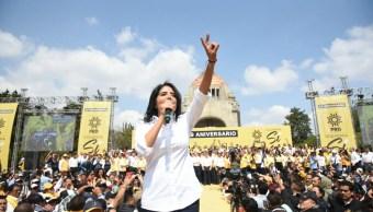 alejandra barrales aniversario prd monumento revolucion