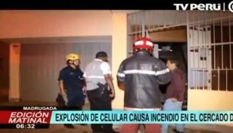 Celular Explota Incendio Cargando Lima Perú