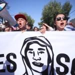 Manifestación en Guadalajara, Jalisco, por el asesinato de los estudiantes de cine