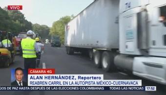 Vehículos Carga Transitan México-Cuernavaca