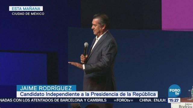 Jaime Rodríguez Pronuncia Favor Bajar Impuestos