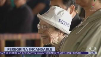 Abuelita italiana de 94 años caminó desde Nuevo León hasta la CDMX