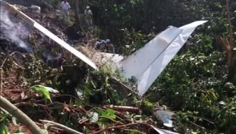 Desploma aeronave en la región serrana de Tuzantán Chiapas
