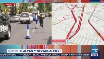 Afectación vial en Tlalpan por manifestantes