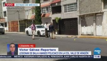 Agreden a balazos a mando policiaco en Valle de Aragón