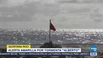 Alerta Amarilla Tormenta Alberto Quintana Roo