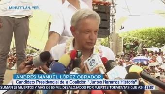 Amlo Visita Zona Petrolera Veracruz Campaña