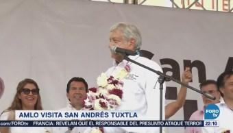 Amlo Visita San Andrés Tuxtla Veracruz