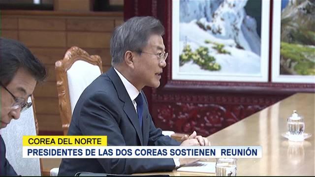 Presidentes Dos Coreas Sostienen Una Reunión
