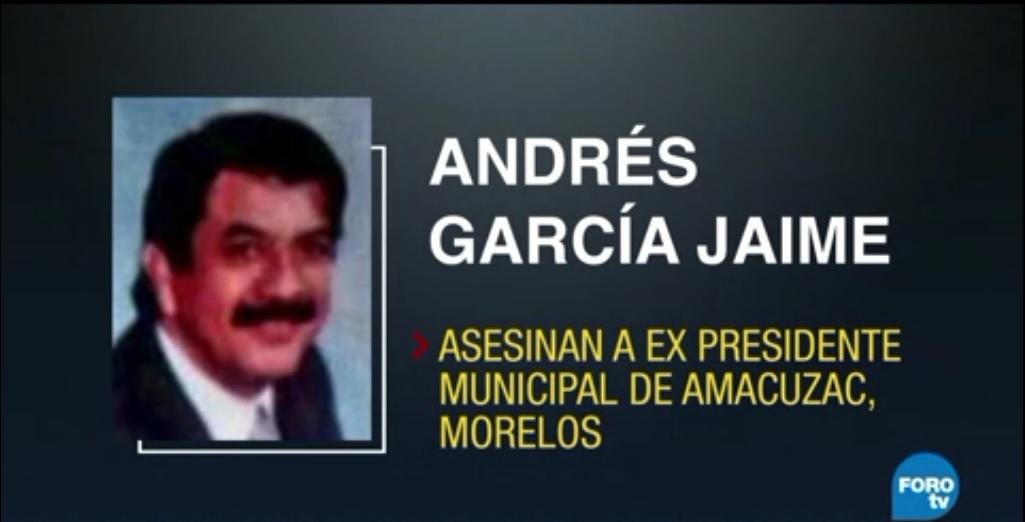 Asesinan a exalcalde perredista de Amacuzac, Morelos