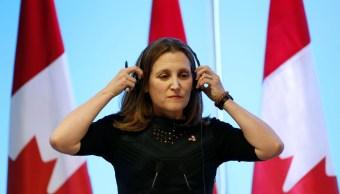 Canciller canadiense Freeland viajará a Washington por TLCAN